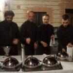 Service au plateau, plats clochés
